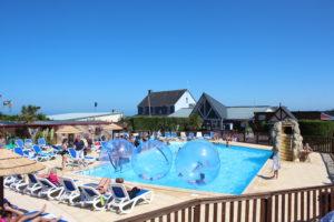 camping-5*-piscine-mer-normandie-Aquabulle-cotentin-plage-debarquement@camping-Le-Cormoran