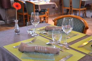 Auberge du Château (17) table restaurant saint sauveur le vicomte