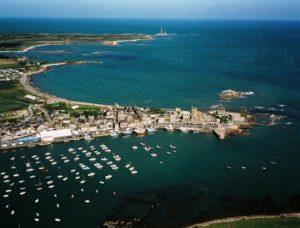 vue aérienne Barfleur - Cotentin Tourisme