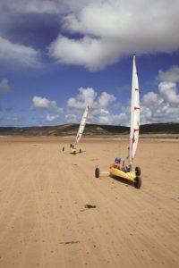 Activité sportive dans le Cotentin - Char à voile @polenautiquelahague - Cotentin Tourisme - Normandie
