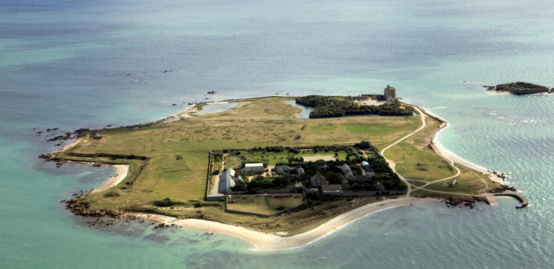 Île Tatihou - Vue aerienne – ile Tatihou 19-09-13©D.Daguier-CG50-1470 – cotentin – normandie