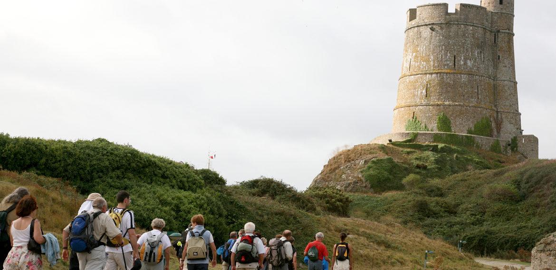 Les tours Vauban de la Hougue et de Tatihou à St Vaast-la-Hougue - randonnée tour Vauban