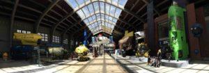 Salle d'exposition de face Cité de la Mer Cherbourg - Cotentin - Normandie