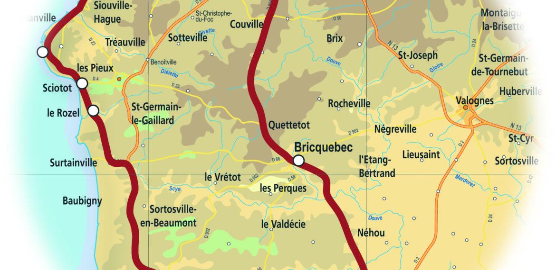Circuit Découverte Côte des Isles en Normandie - CARTE_COTES_ISLES