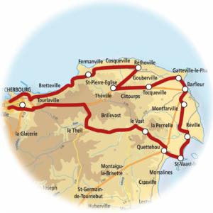 carte val de saire cotentin tourisme normandie