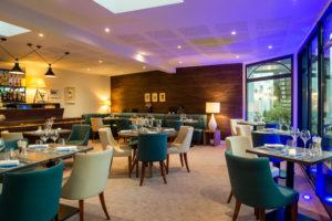 salle de l'Hôtel-restaurant Les Ormes à Barneville Carteret dans le Cotentin en Normandie