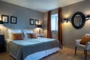 chambre double le rivage luxe Hôtel restaurant de charme Les Ormes Barneville Cote des Isles Cotentin Normandie Manche