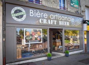 facade boutique houblon biere @brasserie sainte mere - cotentin tourisme normandie