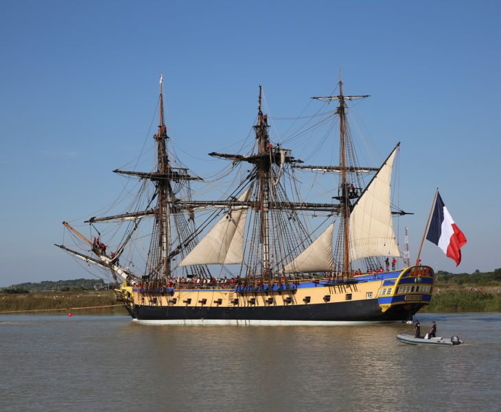 Hermione in Cherbourg-en-Cotentin, from 4 to 8 May 2019