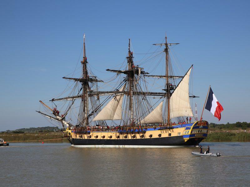 Hermione à Cherbourg-en-Cotentin, du 4 au 8 mai 2019