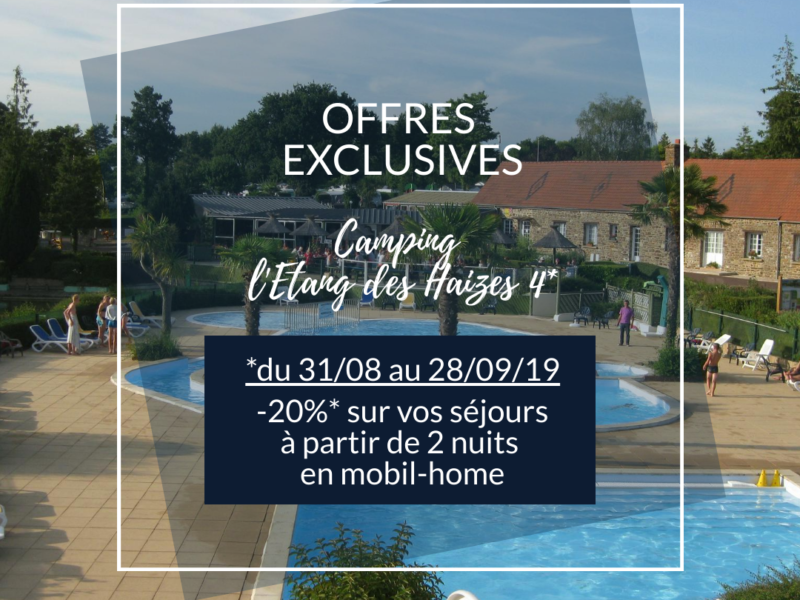 EXCLUSIVE OFFER: -20% * on your 2-bedroom mobile home rentals – Camping l'Etang des Haizes 4 *