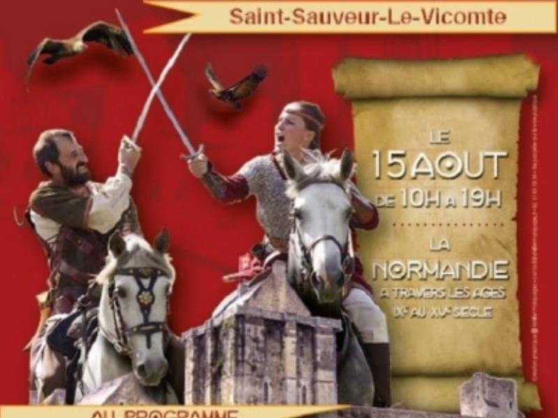AGENDA : 15 août 2019 – Fête médiévale à Saint-Sauveur-le-Vicomte