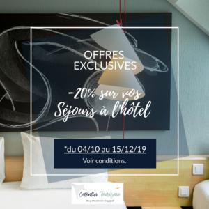 OFFRE EXCLUSIVES HOTELS COTENTIN TOURISME OCTOBRE DECEMBRE 2019