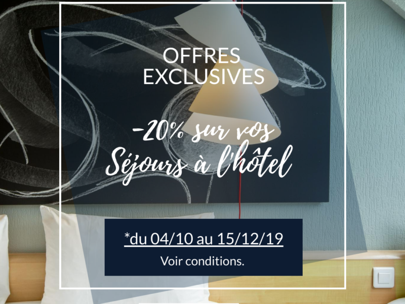EXCLUSIVE OFFER HOTEL IN COTENTIN: -20%* on your weekend stays from October 04 to December 15, 2019