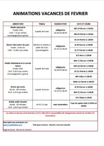 programme atelier moulin à vent Cotentin