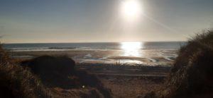 Coucher de soleil Portbail @DenisM Cotentin Tourisme