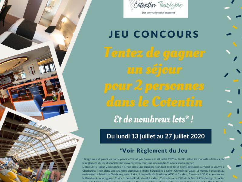 Règlement – JEU CONCOURS COTENTIN TOURISME du 13 juillet au 27 juillet 2020