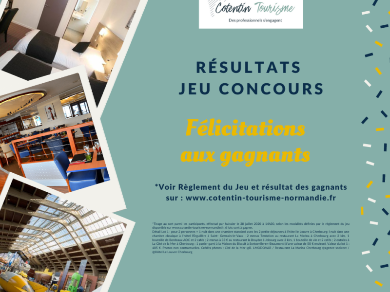Liste de Gagnants Jeu concours Cotentin Tourisme