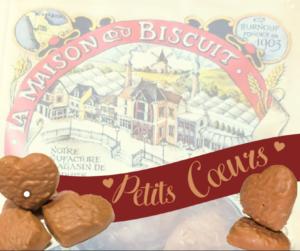 Idée saint valentin Petits coeurs en chocolat @Maison du Biscuit Sortosville-en-beaumont Burnouf - cotentin