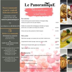 Menu saint valentin à emporter @restaurant le panoramique La Pernelle cotentin
