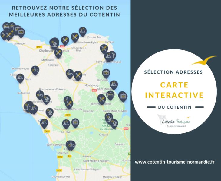 Préparez votre séjour avec notre carte du Cotentin interactive