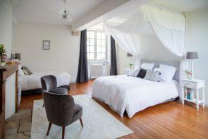Chambre La Baldaquin Manoir de juganville - chambre d'hote normandie cotentin