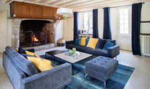 Salon Manoir de Juganville - chambre d'hote normandie cotentin