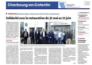 Opération chèque restaurant Volkswagen Lebon Cotentin Tourisme restaurant juin 2021