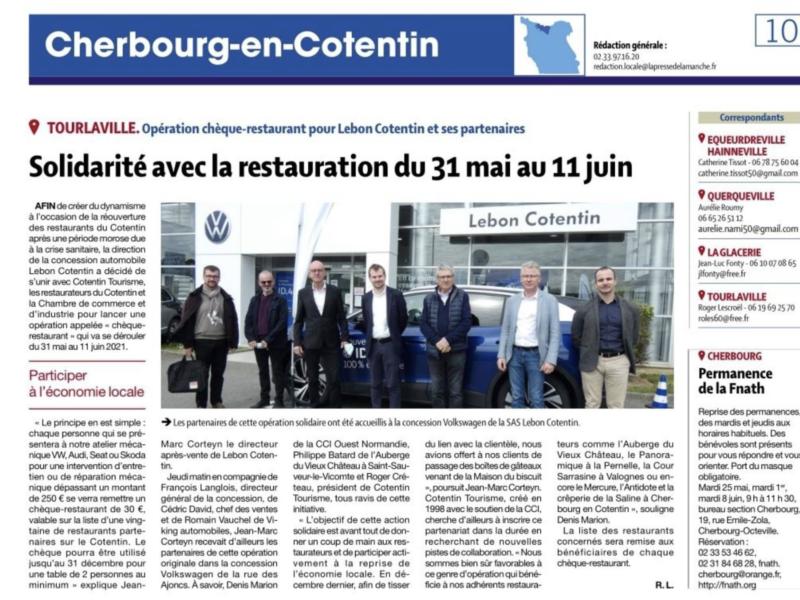 31 mai au 11 juin : Opération chèque-restaurant chez Volkswagen Lebon