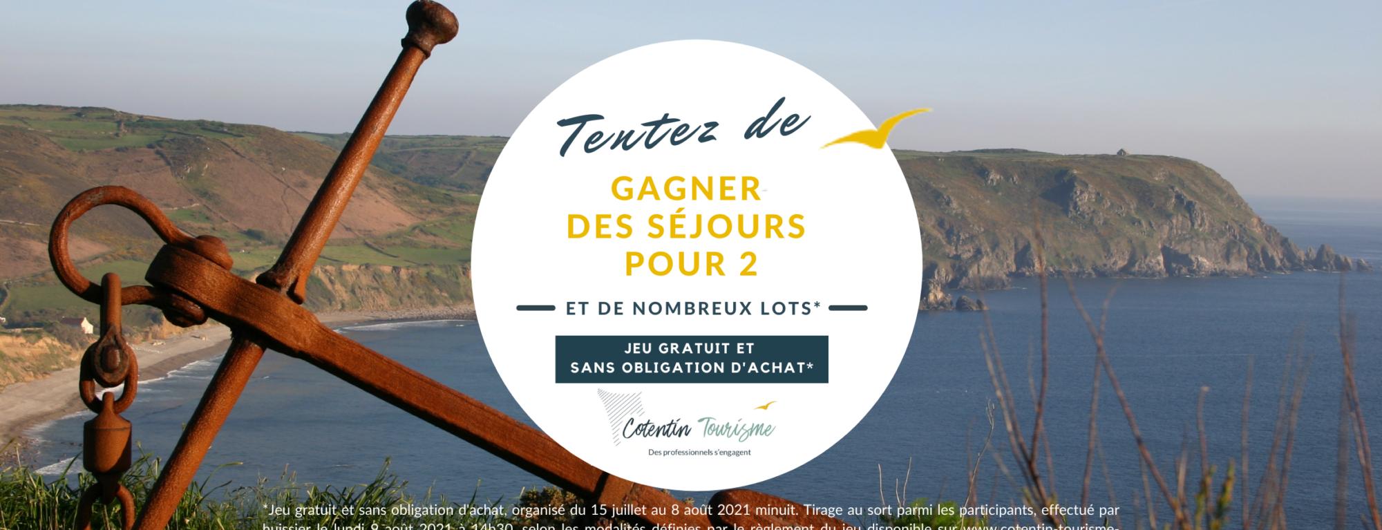 Participez au Jeu Gratuit sans Obligation d'achat de Cotentin Tourisme